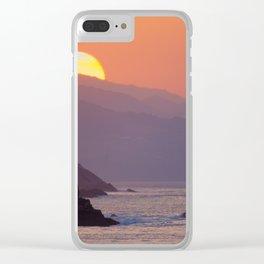 Sunset Donosti Clear iPhone Case