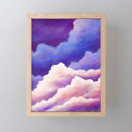 Dreamy Clouds Framed Mini Art Print