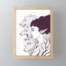 Wolf Witch - Wolf Spirit Animal Framed Mini Art Print