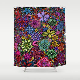 Flowers on the Brain Shower Curtain