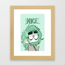 nice one, bro Framed Art Print