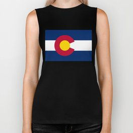 Colorado flag - High Quality image Biker Tank