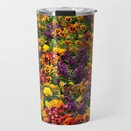Begonias, marigolds and pansies Travel Mug