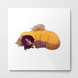 Aizawa Shoto Sleepy Metal Print