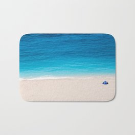 Alone On The Beach Bath Mat