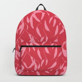 Leaf pattern, pink and red Backpack