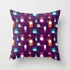 Cats pattern Throw Pillow