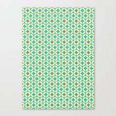 Repeated Retro - turquoise Canvas Print