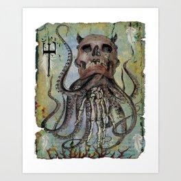 Pulpo Art Print