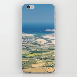 Aerial Views over North Cornwall - Padstow and Rock iPhone Skin