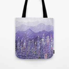 Purple Mountain Rain Tote Bag