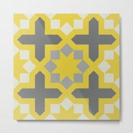 Arabesque Pattern Fifteen Metal Print