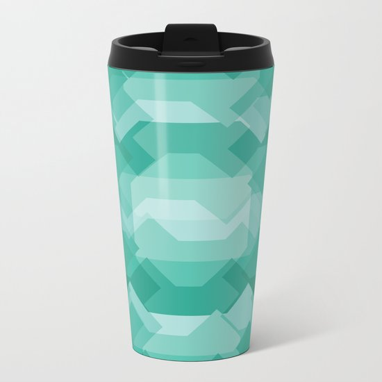 Emerald gem stone Metal Travel Mug