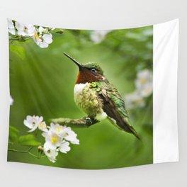 Hummingbird Flora Wall Tapestry
