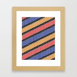 Line pattern (Complementary Colors) Framed Art Print