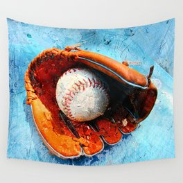 Modern baseball version 1 Wall Tapestry