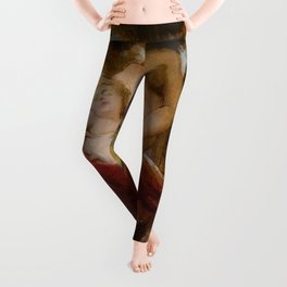 """William-Adolphe Bouguereau """"Study for Charity"""" Leggings"""