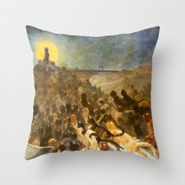 "Théophile Steinlen ""The Apotheosis of the Cats"" Throw Pillow"