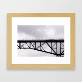 Walkway Over the Hudson, Opening Day Framed Art Print