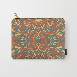 Multicolored Abstract Ornate Pattern Carry-All Pouch