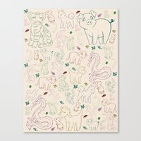 zodiac Canvas Prints featuring zodiac by Kristina Nuetzmann