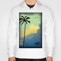 palm trees Hoodies featuring Palm trees by Winking Lion