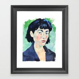 Profile in Acrylic Framed Art Print