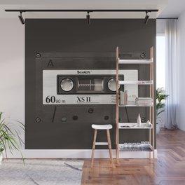Cassette Tape Black And White #decor #society6 #buyart Wall Mural