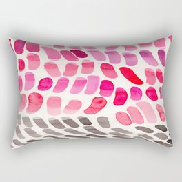 Pretty Pink Pastel Purple Watercolor Colorful Organic Pattern Mid Century Modern Art Rectangular Pillow