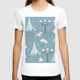 Paris Girl - Blue T-shirt