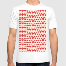 C13D HEARTWAVE Mens Fitted Tee White MEDIUM
