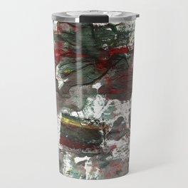 Dark liver abstract watercolor Travel Mug
