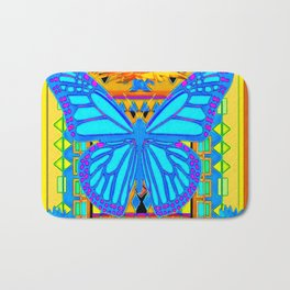 Baby Blues Butterfly Gold Art Bath Mat