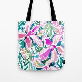 PLUMERIA PARADISE Tropical Floral Tote Bag