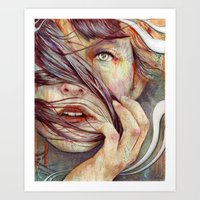 oil Art Prints featuring Opal by Michael Shapcott