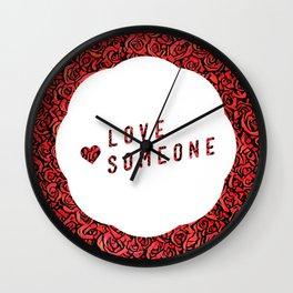 Love Someone Roses Wall Clock