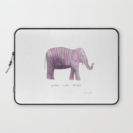 better with stripes Laptop Sleeve