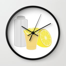 Salt, lemon and tequila Wall Clock