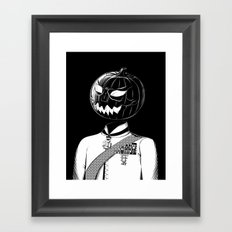 Sir Halloween Framed Art Print