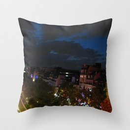 Night in the City of Light Throw Pillow