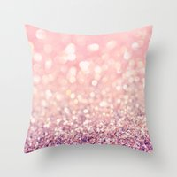 blush Throw Pillows featuring Blush by Lisa Argyropoulos