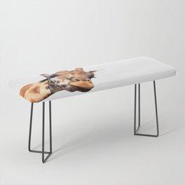 Giraffe portrait Bench