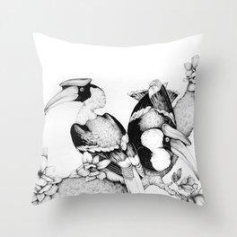 The Hornbills Throw Pillow