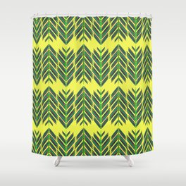 Green feathers Shower Curtain