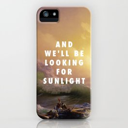 Ivan Aivazovsky, The Ninth Wave (1850) / Halsey, Roman Holiday (2015) iPhone Case