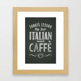 Italian Lessons / Coffee Framed Art Print
