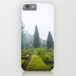 Beautiful manicured gardens of Palace of Queluz in Portugal iPhone Case