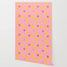Pink Disco Print Wallpaper