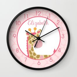 Elizabeth - Pink Giraffe Wall Clock