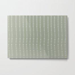 succulent green lines Metal Print